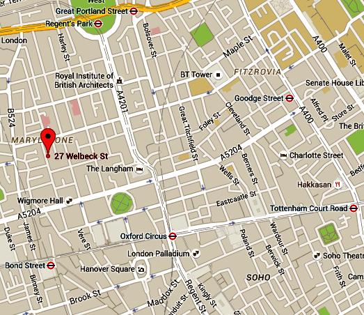 27 Welbeck Street Map