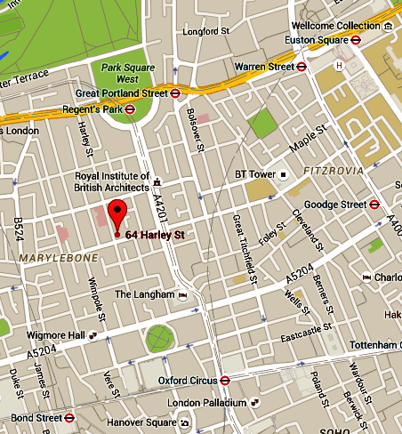 64 Harley Street Map