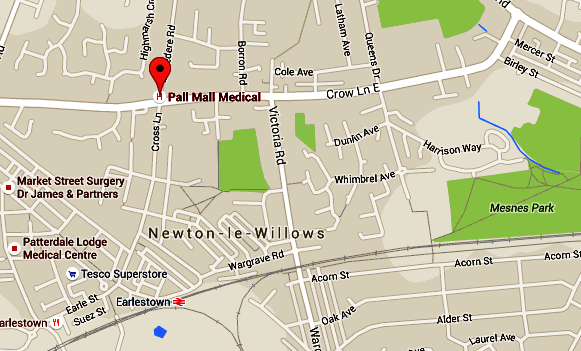 Newton Le Willows Map