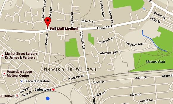 Newton Le Willows Map